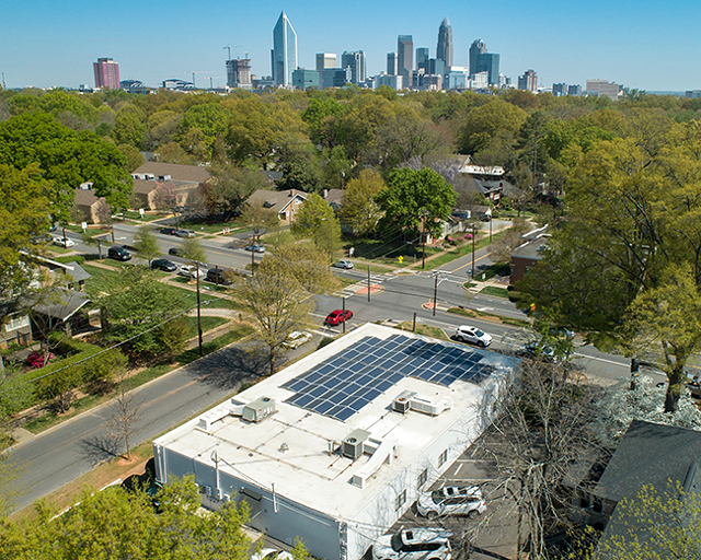 Capizzi MD's East Boulevard location has taken advantage of solar panels.