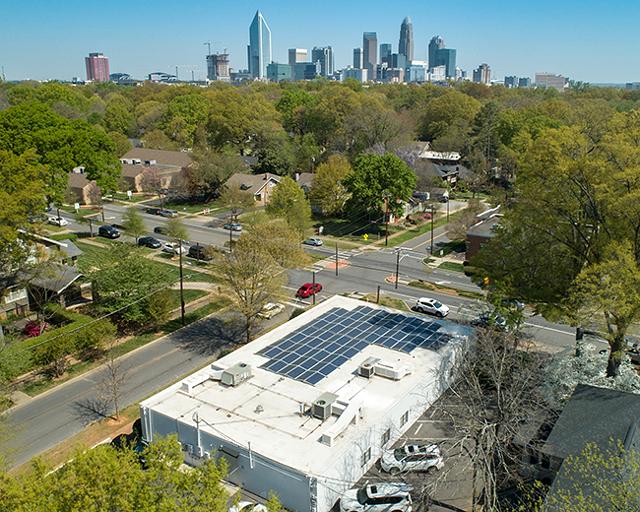 Capizzi MD's East Boulevard location has taken advantage of solar panels.