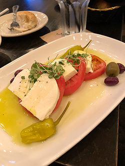 Mozzarella & tomatoes.