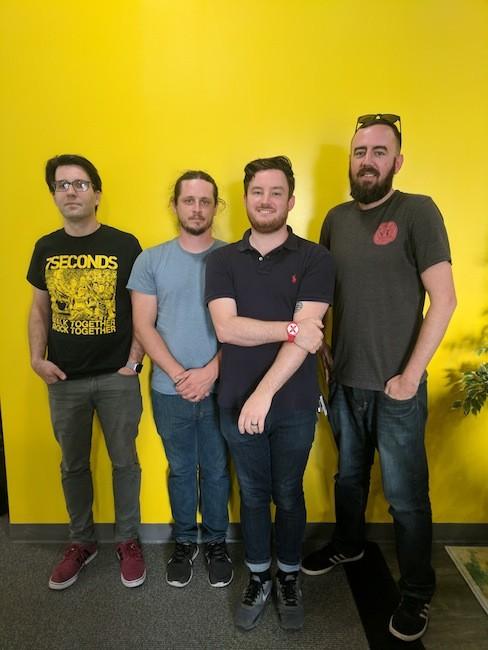 Scott Wishart (from left), Neil Mauney, Josh Robbins and Ryan Pitkin.