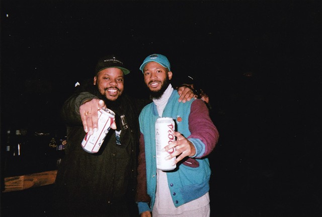 Charlotte rappers Elevator Jay (left) and Lute, shot by David Butler