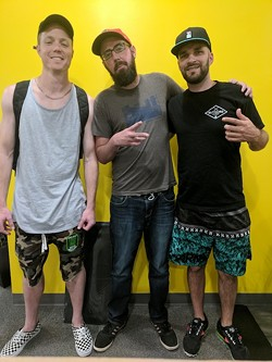 [From left] DJ Complete, Ryan Pitkin and A. Styles.