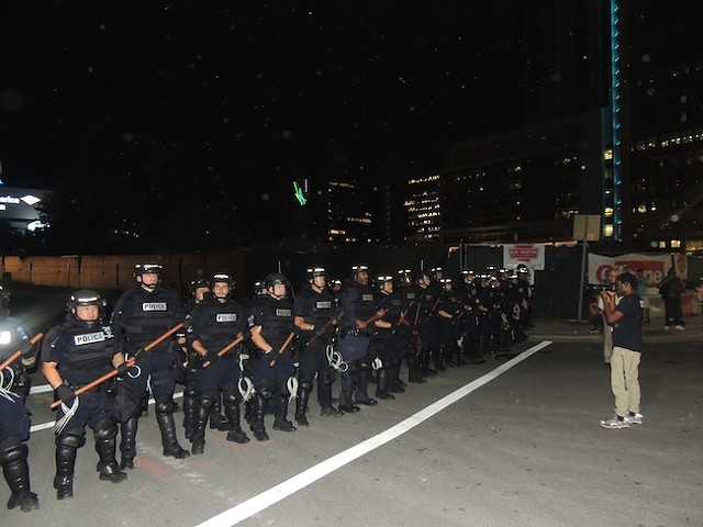 The RNC will bring more militarized police to Charlotte. (Photo by Lara Americo)