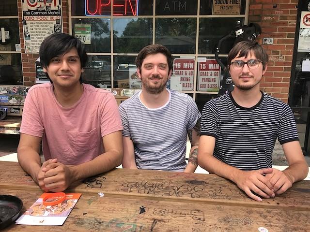 Looking glad (from left): Alex Ruiz, Matt McConomy and Jimmy Turner. (Photo by Mark Kemp)