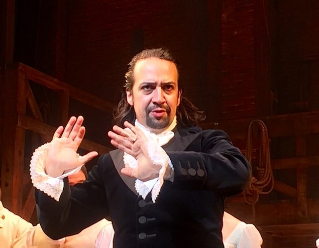 """I'm past patienly waitin',"" -Lin-Manuel Miranda as Alexander Hamilton in 'Hamilton' (Photo by Steve Jurvetson)"