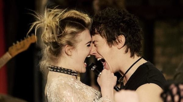 Elle Fanning and Alex Sharp in How to Talk to Girls at Parties (Photo: Lionsgate & A24)