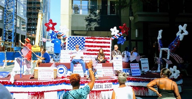 The local United Automobile Workers union 3520 in the 2017 Charlotte Labor Day Parade (Photo Courtesy of Charlotte Labor Day Parade Committee)