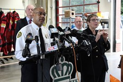 CFP Chief Johnson during Wednesday morning's press briefing. (Photo by Courtney Mihocik)