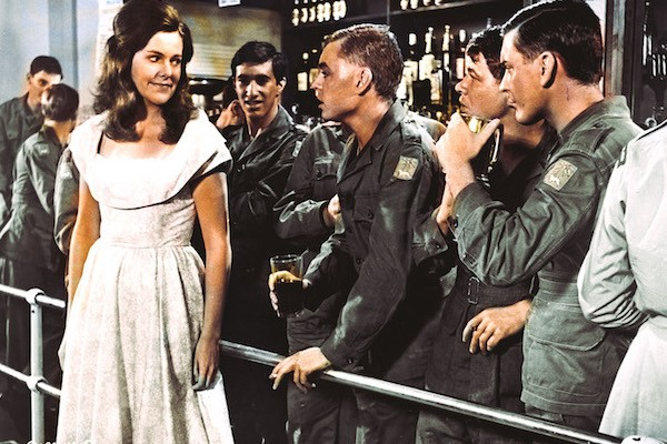 Lynn Redgrave and Hywel Bennett (center) in The Virgin Soldiers (Photo: Twilight Time)