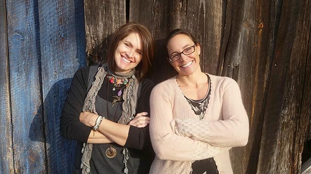 Carol Johncock (left) and Mary Clark of Girlbage. (Photo courtesy of Girlbage)