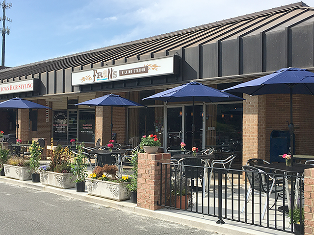 The front patio of Fran's Filling Station, where Fran will hold the First Annual Community BBQ on Sept. 29. (Photo courtesy of Black Wednesday Photography)