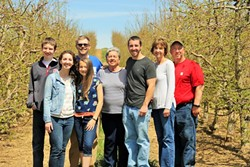 Perry Lowe III (far right) with the rest of the Perry Lowe Orchards family. (Photo Courtesy of Perry Lowe Orchards)