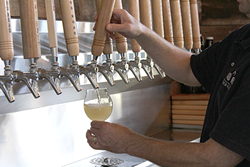 Beauchemin pours up some cider at Good Road.