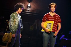 Abby Corrigan (right) in 'Fun Home' (Photo by Joan Marcus)