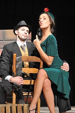 Steven Buchanan and Lindsey Schroeder in 'Bonnie & Clyde' (Photo by Debbi Ballard)