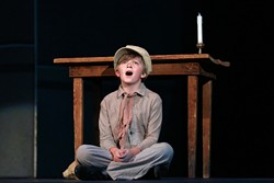 Bennett Harris as Oliver Twist (Photo by Chris Record)