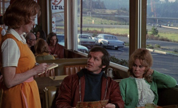 Lorna Thayer, Jack Nicholson and Karen Black in Five Easy Pieces (Photo: Criterion)