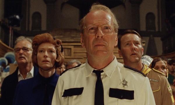 Bill Murray, Tilda Swinton, Bruce Willis and Edward Norton in Moonrise Kingdom (Photo: Criterion)