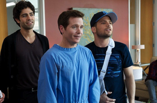 Adrian Grenier, Kevin Connolly and Jerry Ferrara in Entourage (Photo: Warner)