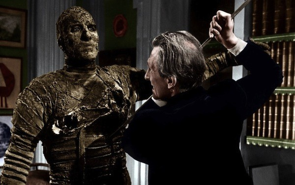 Christopher Lee and Peter Cushing in The Mummy (Photo: Warner & Hammer)