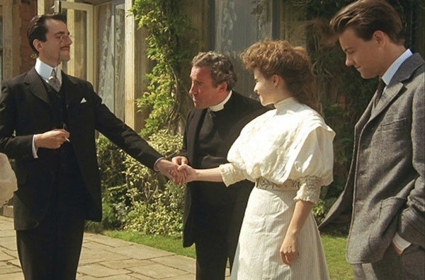 Daniel Day-Lewis, Simon Callow, Helena Bonham Carter and Rupert Graves in A Room with a View (Photo: Criterion)