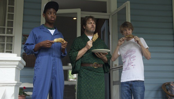 RJ Cyler, Nick Offerman and Thomas Mann in Me and Earl and the Dying Girl (Photo: Fox)