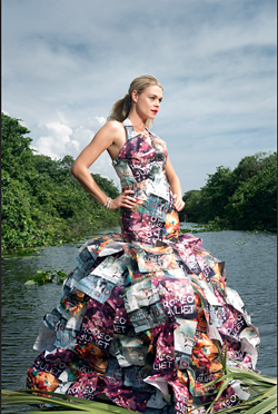 Opera Carolina's Eco-Dress - GARBAGE GONE GLAM