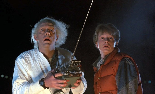 Christopher Lloyd and Michael J. Fox in Back to the Future (Photo: Universal)