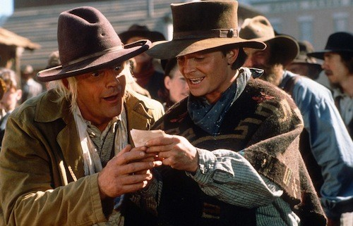 Michael J. Fox and Christopher Lloyd in Back to the Future Part III (Photo: Universal)