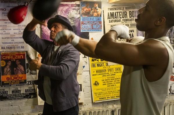 Sylvester Stallone and Michael B. Jordan in Creed (Photo: Warner Bros.)