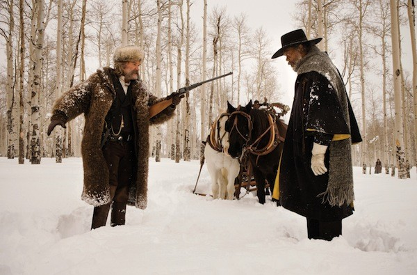 Kurt Russell and Samuel L. Jackson in The Hateful Eight (Photo: The Weinstein Company)