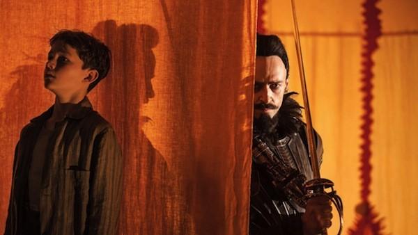 Levi Miller and Hugh Jackman in Pan (Photo: Warner Bros.)