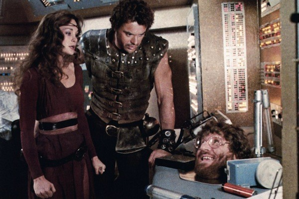 Mary Crosby, Robert Urich and Bruce Vilanch in The Ice Pirates (Photo: Warner Bros.)