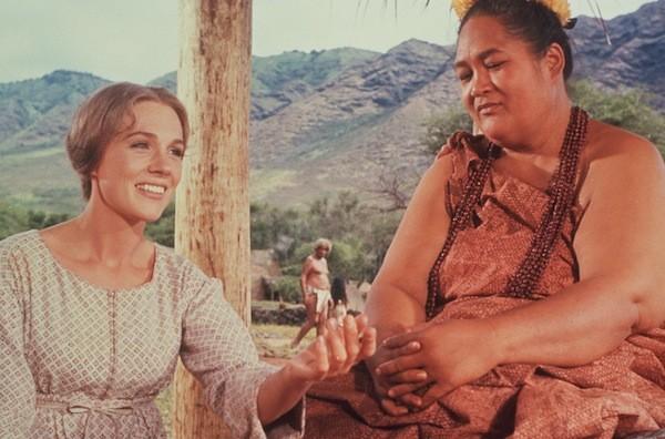 Julie Andrews and Jocelyne LaGarde in Hawaii (Photo: Twilight Time)