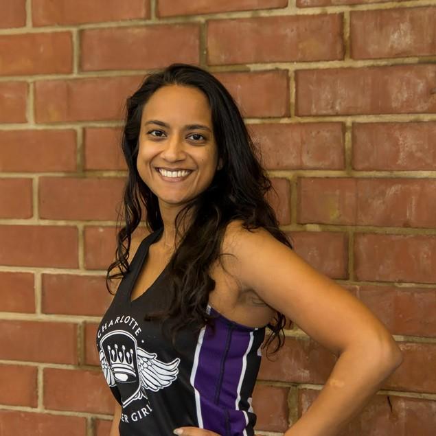 Manisha Parekh joined the Roller Girls in 2014. - PHOTO COURTESY OF CHARLOTTE ROLLER GIRLS