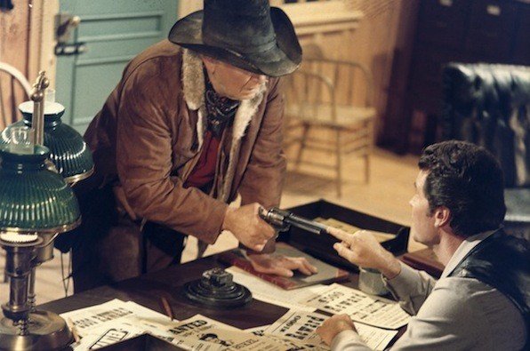 Walter Brennan and James Garner in Support Your Local Sheriff! (Photo: Twilight Time)