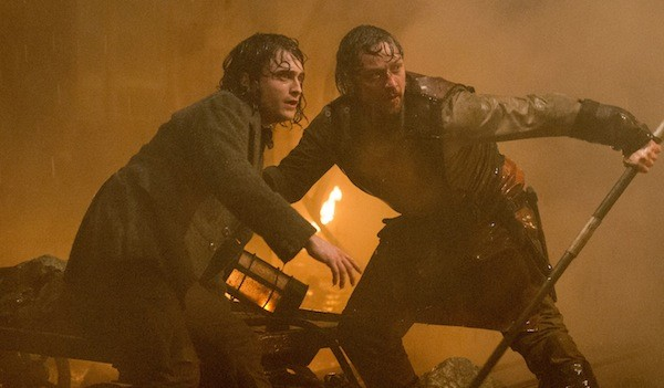 Daniel Radcliffe and James McAvoy in Victor Frankenstein (Photo: Fox)