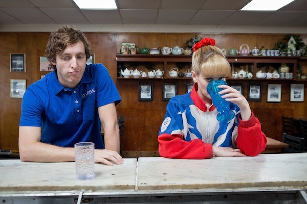 Thomas Middleditch and Melissa Rauch in The Bronze (Photo: Sony Pictures Classics)
