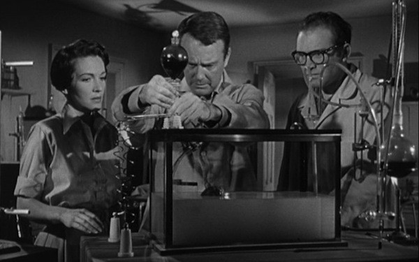 Nancy Davis (Reagan), Lew Ayres and Gene Evans in Donovan's Brain (Photo: Kino & MGM)