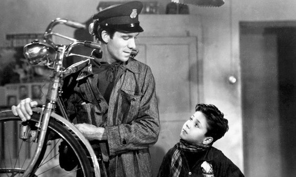 Lamberto Maggiorani and Enzo Staiola in Bicycle Thieves (Photo: Criterion)