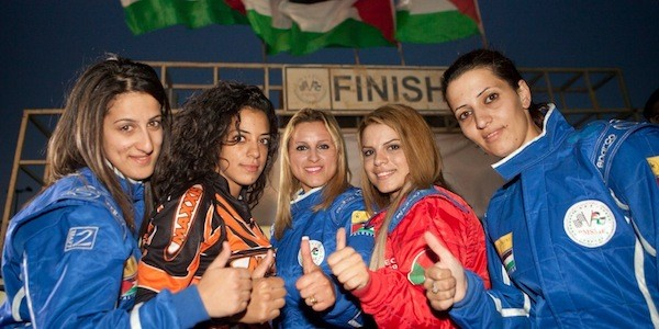 Marah, Noor, Maysoon, Betty and Mona in Speed Sisters (Photo: Dogwoof Global)