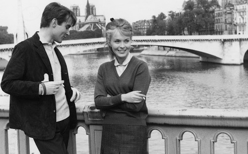 Philippe Forquet and Jean Seberg in In the French Style (Photo: Twilight Time)