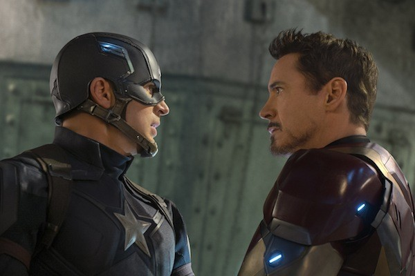 Chris Evans and Robert Downey Jr. in Captain America: Civil War (Photo: Marvel & Disney)