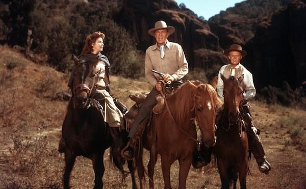Susan Hayward, Gary Cooper and Richard Widmark in Garden of Evil (Photo: Twilight Time)