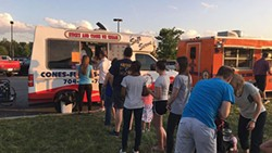 Karen and Dave Trauner's Cones truck at a recent Saturday night food truck rally in Harrisburg.
