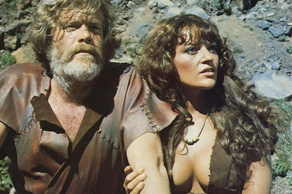 Doug McClure and Dana Gillespie in The People That Time Forgot (Photo: Kino)