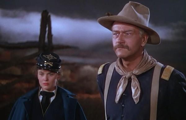 Joanne Dru and John Wayne in She Wore a Yellow Ribbon (Photo: Warner Bros.)