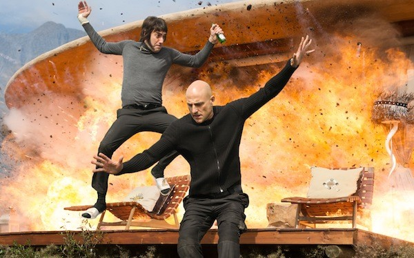 Sacha Baron Cohen and Mark Strong in The Brothers Grimsby (Photo: Columbia)