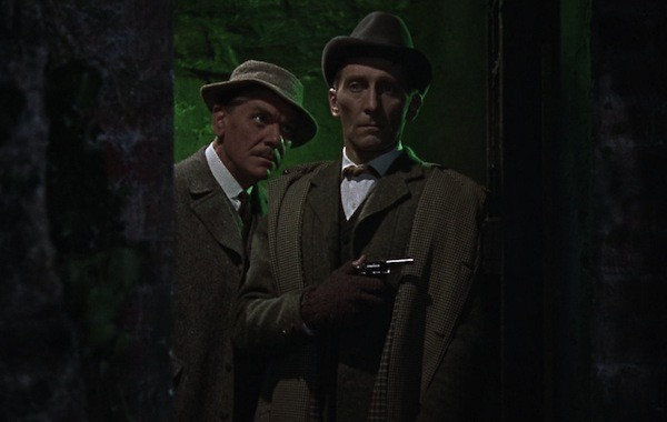 Andre Morell and Peter Cushing in The Hound of the Baskervilles (Photo: Twilight Time)