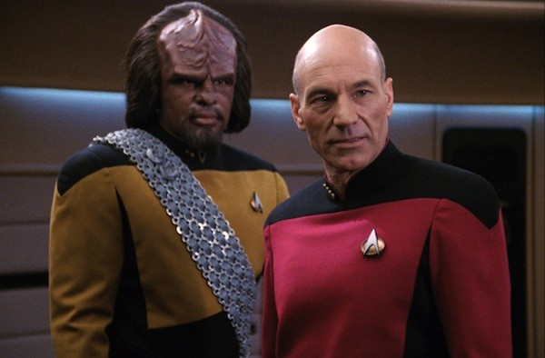 Michael Dorn and Patrick Stewart in Star Trek: The Next Generation (Photo: Paramount & CBS)
